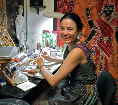 Wanaree in her workshop